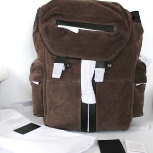 Alexander Wang Leather-trimmed Suede Backpack